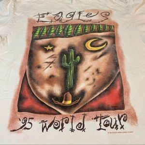 Vintage Shirts - 1995 Eagles World Tour T-shirt Vintage Band Tee